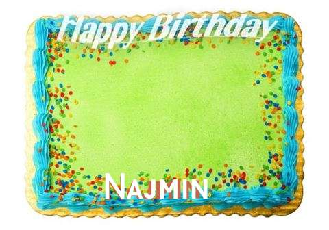 Happy Birthday Najmin Cake Image