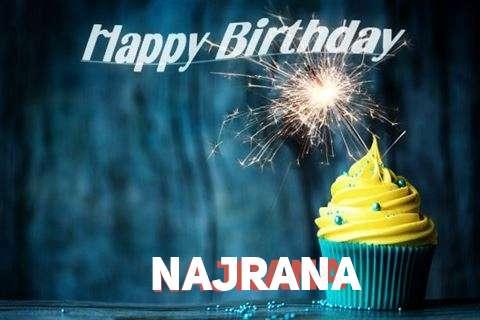 Happy Birthday Najrana Cake Image