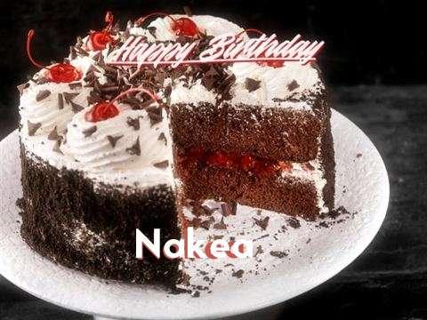 Happy Birthday Nakea Cake Image
