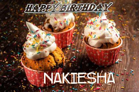 Happy Birthday Nakiesha Cake Image