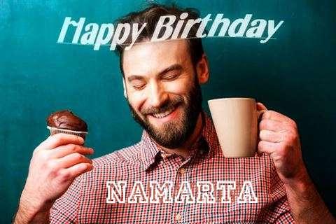 Happy Birthday Namarta Cake Image