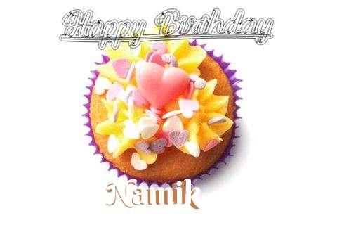 Happy Birthday Namik Cake Image