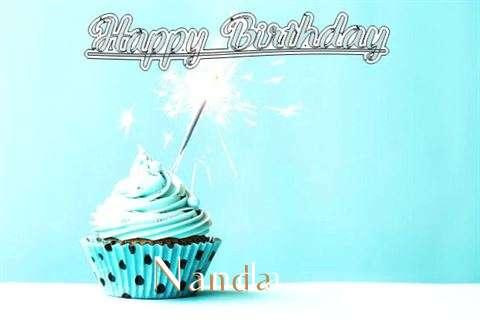 Happy Birthday Cake for Nanda