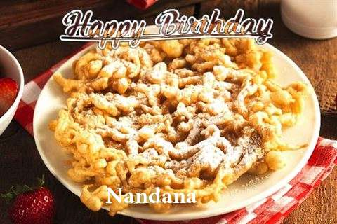 Happy Birthday Nandana Cake Image