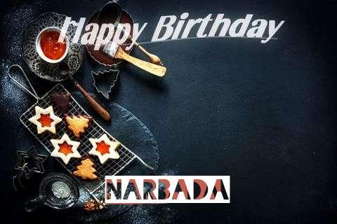 Happy Birthday Narbada Cake Image