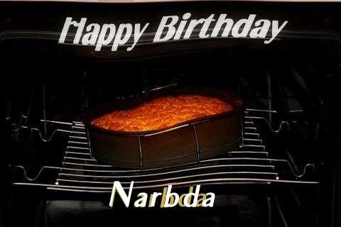 Happy Birthday Narbda Cake Image