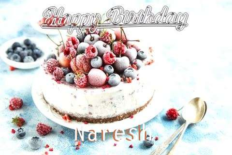 Happy Birthday Cake for Naresh
