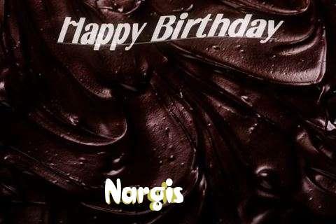 Happy Birthday Nargis Cake Image