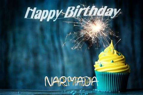 Happy Birthday Narmada Cake Image
