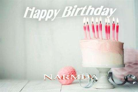 Happy Birthday Narmda Cake Image