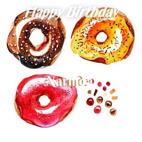 Happy Birthday Cake for Narmda