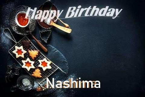 Happy Birthday Nashima Cake Image