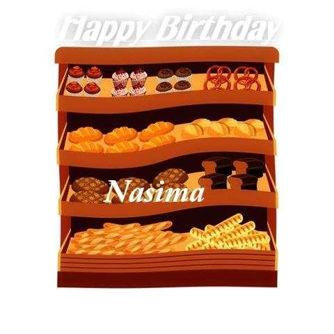 Happy Birthday Cake for Nasima