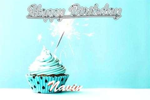 Happy Birthday Cake for Navin