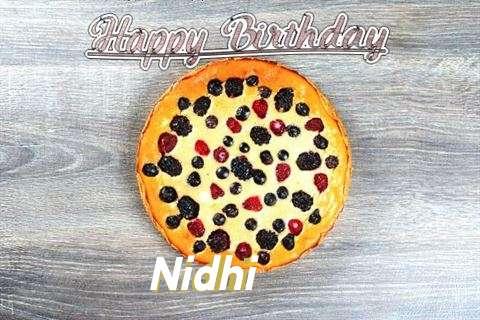 Happy Birthday Cake for Nidhi