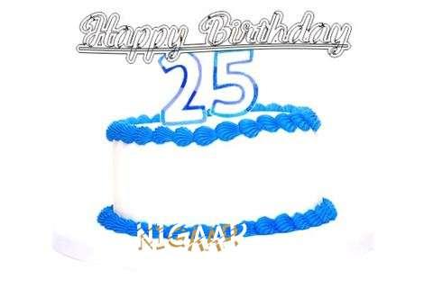 Happy Birthday Nigaar Cake Image