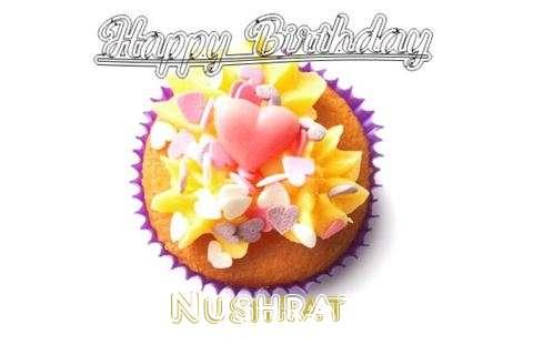 Happy Birthday Nushrat Cake Image