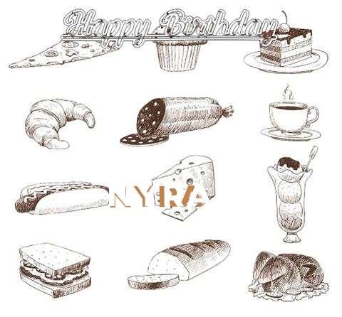 Happy Birthday Cake for Nyra