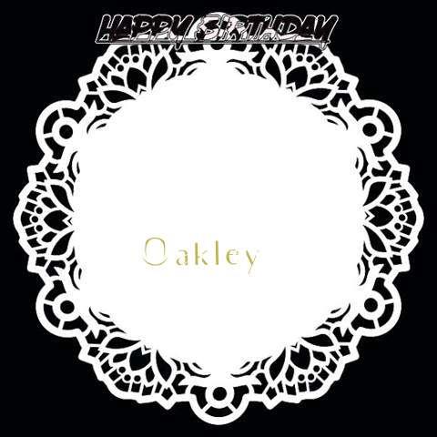 Happy Birthday Oakley Cake Image