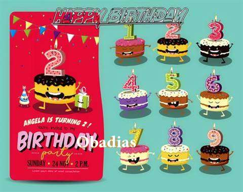Happy Birthday Obadias Cake Image