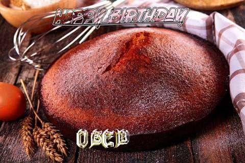 Happy Birthday Obed Cake Image