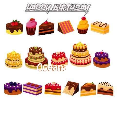Happy Birthday Oceana Cake Image