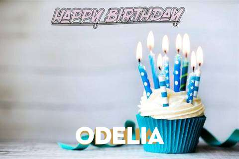 Happy Birthday Odelia Cake Image