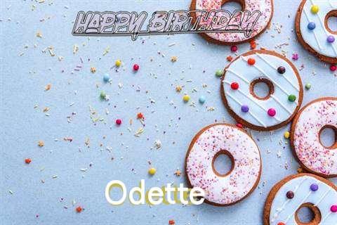 Happy Birthday Odette Cake Image