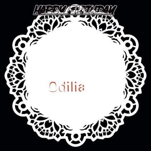 Happy Birthday Odilia Cake Image