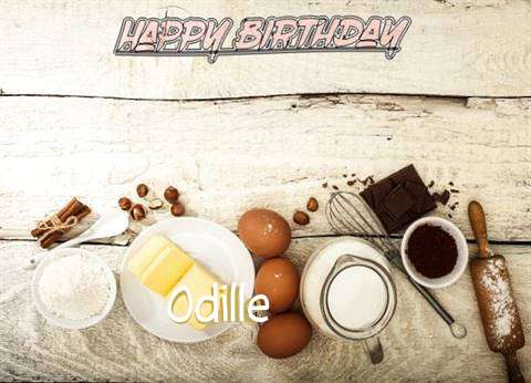 Happy Birthday Odille Cake Image