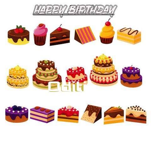 Happy Birthday Oditi Cake Image