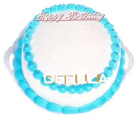 Happy Birthday Ofella Cake Image