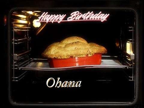 Happy Birthday Ohana Cake Image