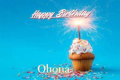 Happy Birthday Ohona Cake Image