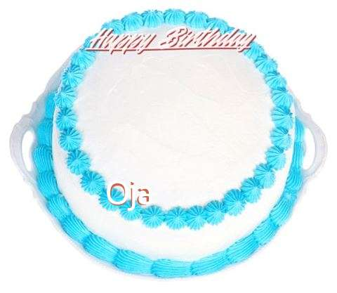 Happy Birthday Oja Cake Image