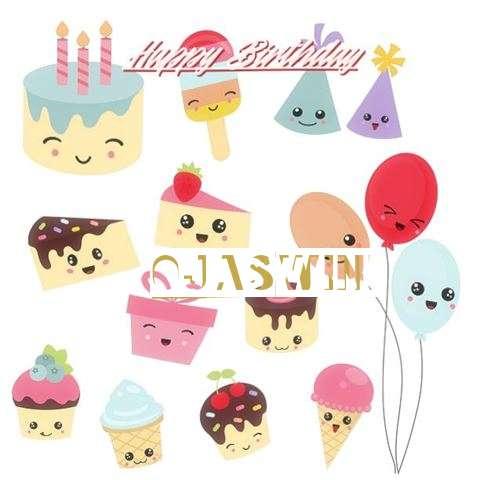 Happy Birthday Ojaswini Cake Image