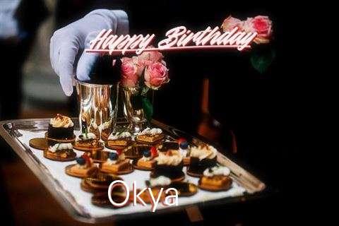 Happy Birthday Okya Cake Image