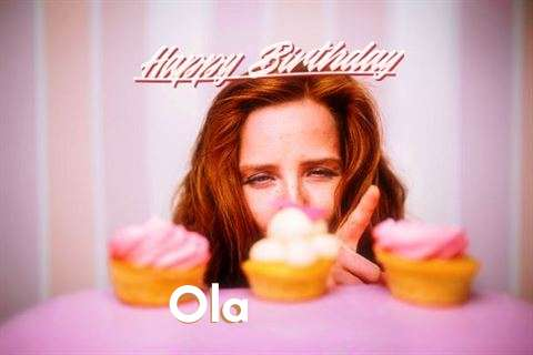 Happy Birthday Ola Cake Image