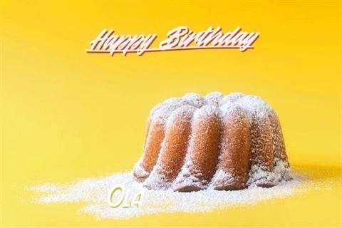 Happy Birthday Cake for Ola