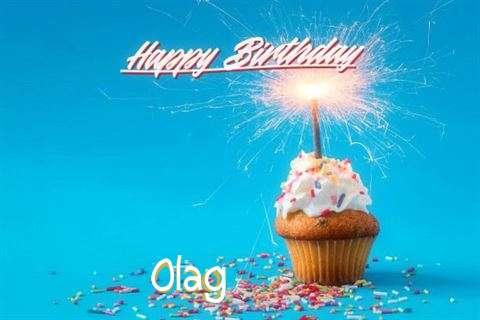 Happy Birthday Olag Cake Image