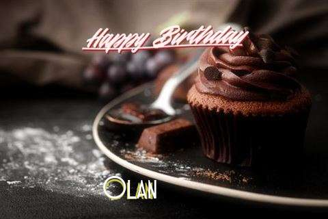 Happy Birthday Olan Cake Image
