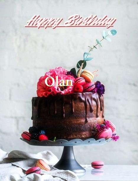 Happy Birthday Cake for Olan