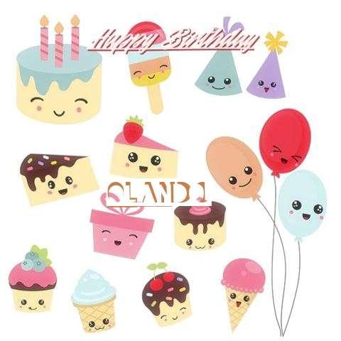 Happy Birthday Olando Cake Image