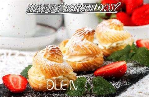 Happy Birthday Olen Cake Image
