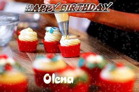 Happy Birthday Olena Cake Image
