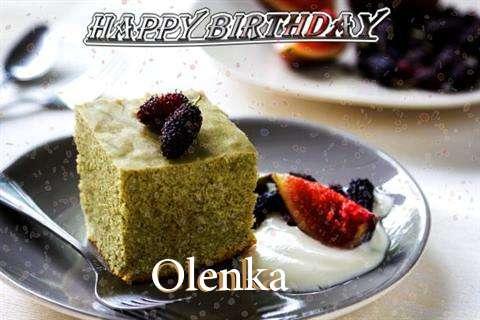 Happy Birthday Olenka Cake Image