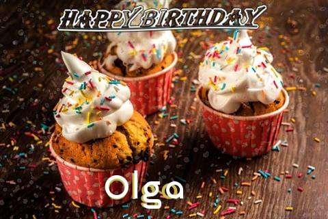 Happy Birthday Olga Cake Image