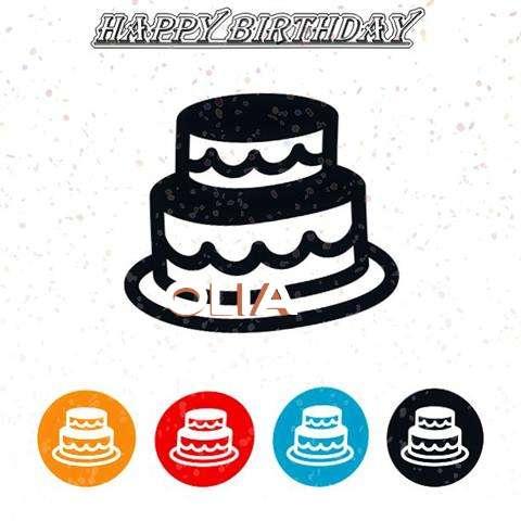 Happy Birthday Olia Cake Image