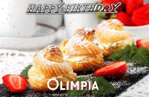 Happy Birthday Olimpia Cake Image