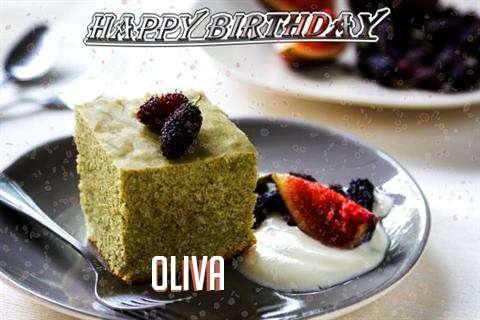 Happy Birthday Oliva Cake Image